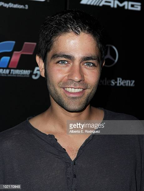 Actor Adrian Grenier arrives as MercedesBenz celebrates PlayStation 3 Gran Turismo 5 featuring the SLS AMG at SLS Hotel on June 15 2010 in Beverly...