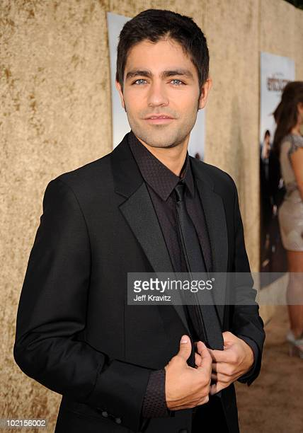 Actor Adrian Grenier arrives at HBO's Entourage Season 7 premiere held at Paramount Theater on the Paramount Studios lot on June 16 2010 in Hollywood...