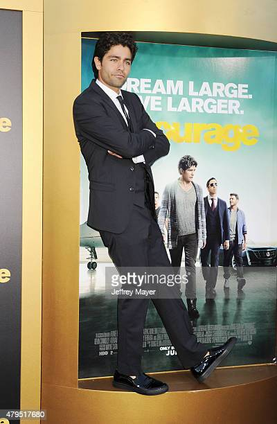 Actor Adrian Grenier arrives at the 'Entourage' Los Angeles premiere at Regency Village Theatre on June 1, 2015 in Westwood, California.
