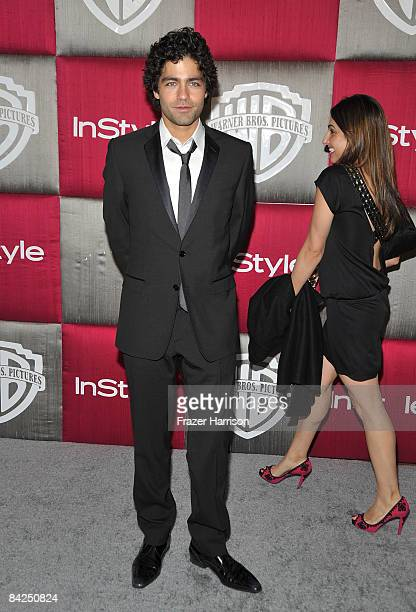 Actor Adrian Grenier arrives at the InStyle/Warner Bros after party for the 66th Annual Golden Globe Awards held at the Oasis Court at the Beverly...