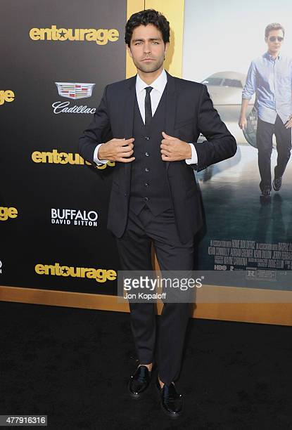 """Actor Adrian Grenier arrives at the Los Angeles Premiere """"Entourage"""" at Regency Village Theatre on June 1, 2015 in Westwood, California."""