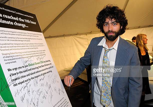 Actor Adrian Grenier attends Global Green USA's 5th Annual Pre Oscar Party raising awareness about smart climate solutions and benefiting the green...