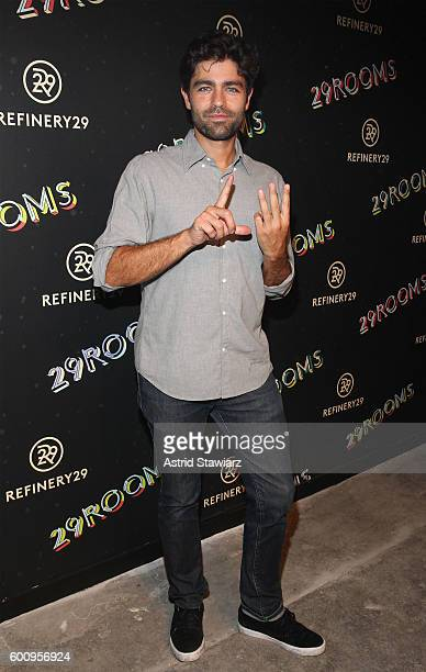 Actor Adrian Grenier attends Refinery29's Second Annual New York Fashion Week Event '29Rooms' on September 8 2016 in Brooklyn New York