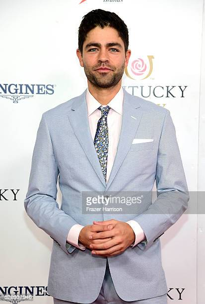 Actor Adrian Grenier attends the 142nd Kentucky Derby at Churchill Downs on May 07 2016 in Louisville Kentucky