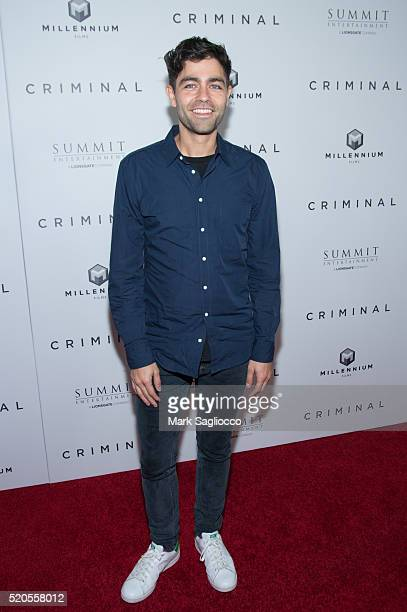 "Actor Adrian Grenier attends the ""Criminal"" New York Premiere at AMC Loews Lincoln Square 13 theater on April 11, 2016 in New York City."