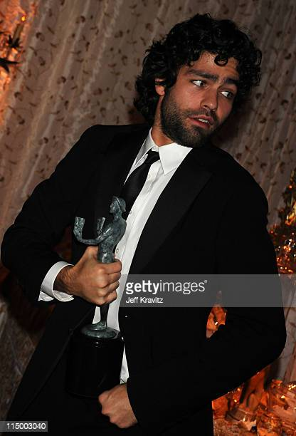 Actor Adrian Grenier attends the HBO after party for the 14th Annual Screen Actor's Guild Awards at the Shrine Auditorium on January 27 2008 in Los...