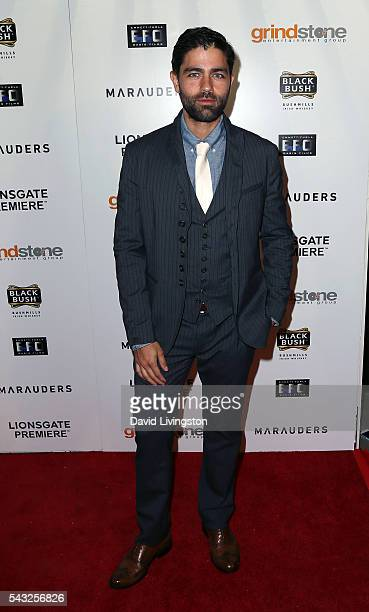 Actor Adrian Grenier attends the Lionsgate premiere of Marauders at TCL Chinese 6 Theatres on June 26 2016 in Hollywood California