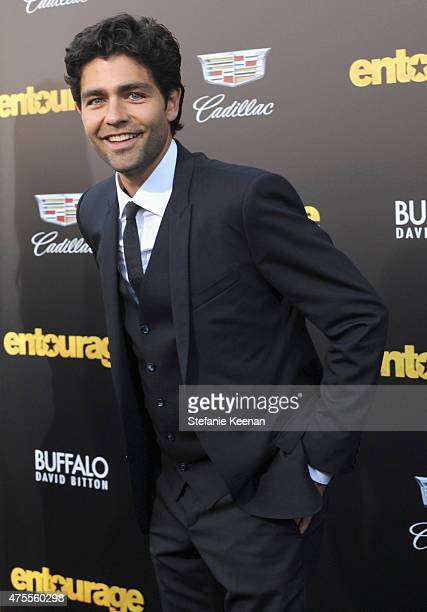 Actor Adrian Grenier attends the premiere of ENTOURAGE, sponsored by Buffalo David Bitton, at the Regency Village Theatre on June 1, 2015 in...