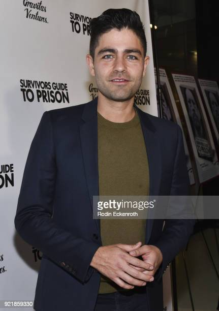 Actor Adrian Grenier attends the premiere of Gravitas Pictures' Survivors Guide To Prison at The Landmark on February 20 2018 in Los Angeles...