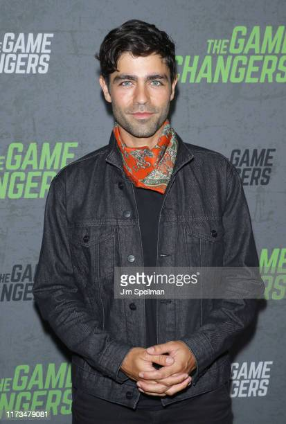 "Actor Adrian Grenier attends the ""The Game Changers"" New York premiere at Regal Battery Park 11 on September 09, 2019 in New York City."