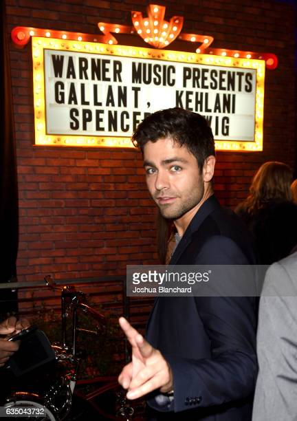 Actor Adrian Grenier attends the Warner Music Group GRAMMY Party at Milk Studios on February 12, 2017 in Hollywood, California.