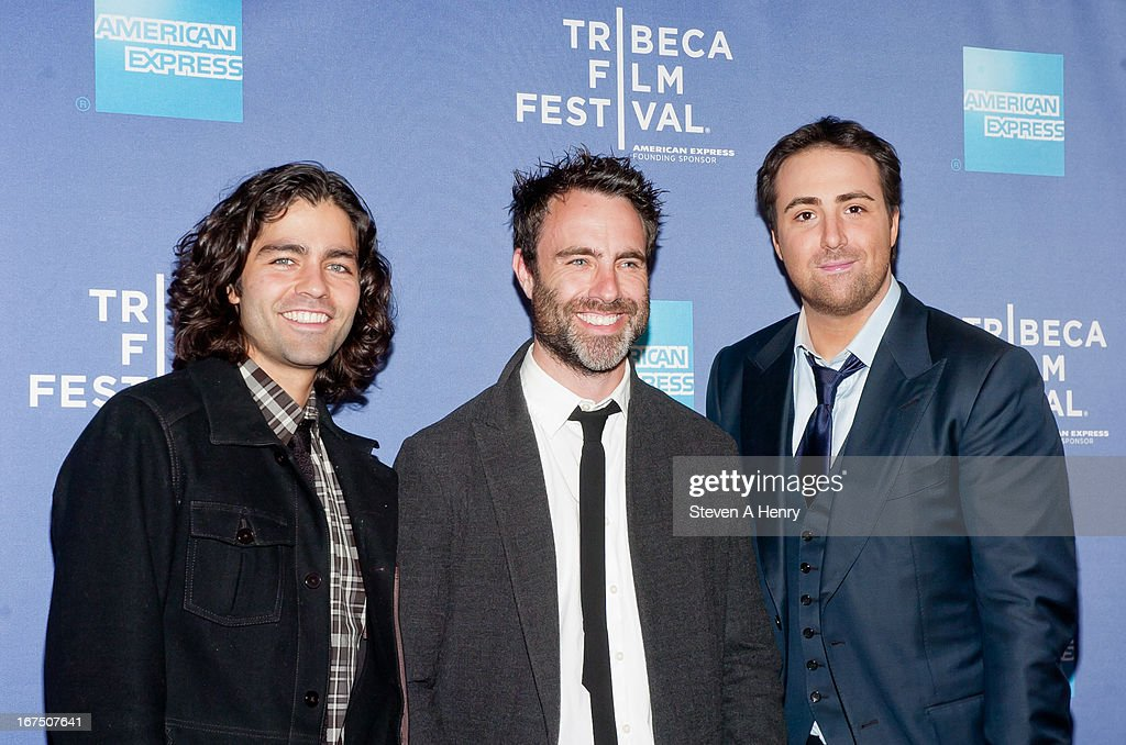 Actor Adrian Grenier, Director Matthew Cooke and Producer Bert Marcus attend Tribeca Talks: After the Movie 'How to Make Money Selling Drugs' during the 2013 Tribeca Film Festival at SVA Theater on April 25, 2013 in New York City.