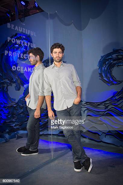 Actor Adrian Grenier poses in the 'Lonely Whale Foundation' room the 2nd Annual Refinery29 29Rooms Powered By People on September 8 2016 in New York...