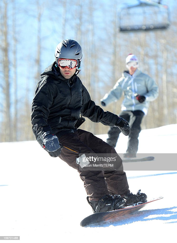 Actor Adrian Grenier rides at the Oakley Learn To Ride in collaboration with New Era on January 18, 2013 in Park City, Utah.