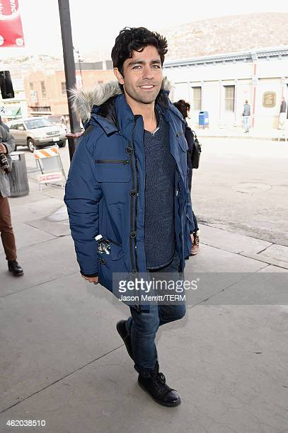 Actor Adrian Grenier seen around Park City Day 1 on January 23 2015 in Park City Utah