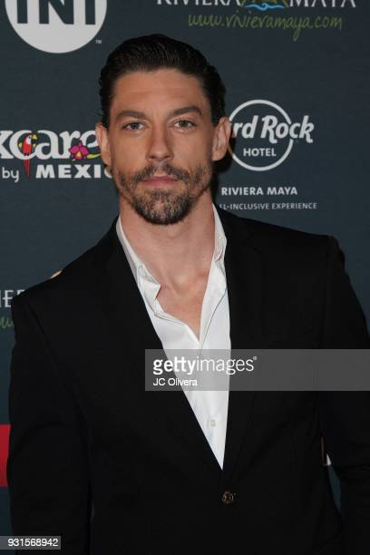 Actor Adrian Lastra attends the 5th Annual Premios PLATINO Of Iberoamerican Cinema Nominations Announcement at Hollywood Roosevelt Hotel on March 13...