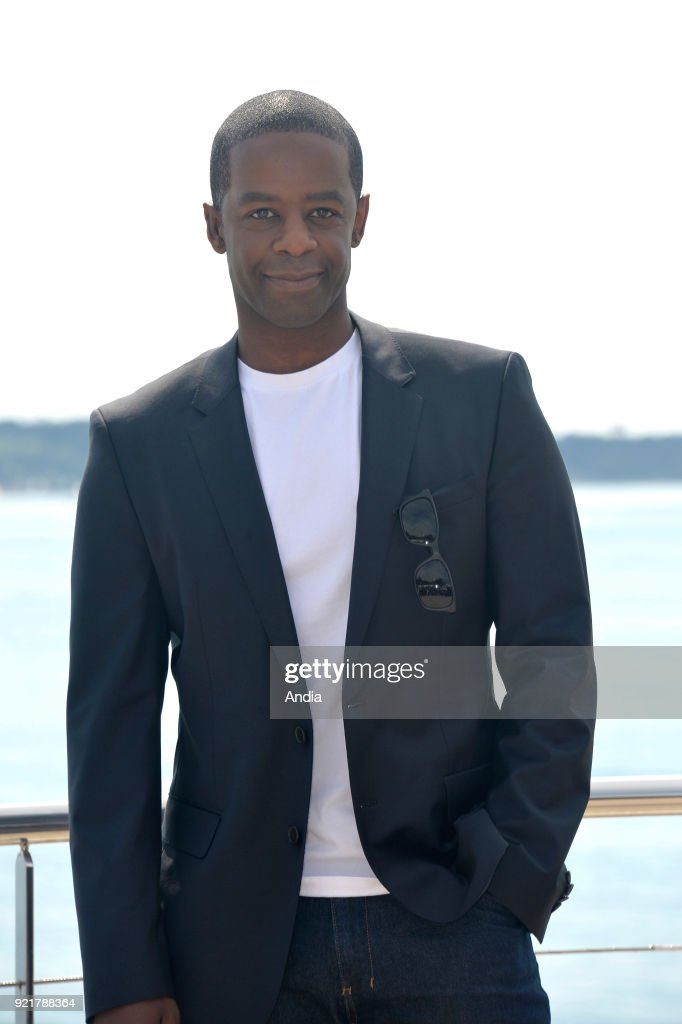 Actor Adrian Lester posing for a photocall on the occasion of the MipTV, International Television Programme Market, in Cannes (south-eastern France) on .