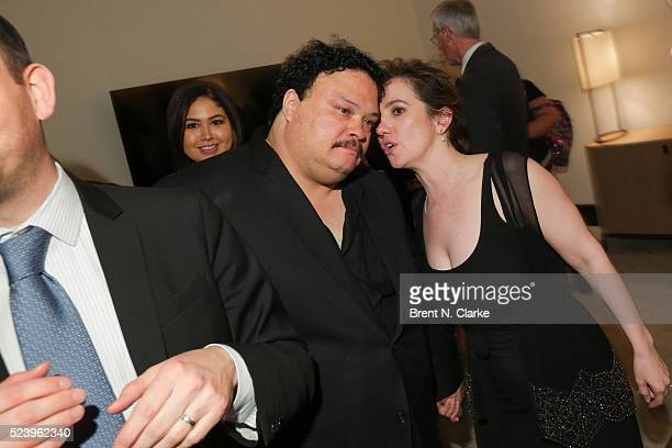 Actor Adrian Martinez and director Domenica CameronScorsese attend the Almost Paris premiere after party on April 24 2016 in New York City