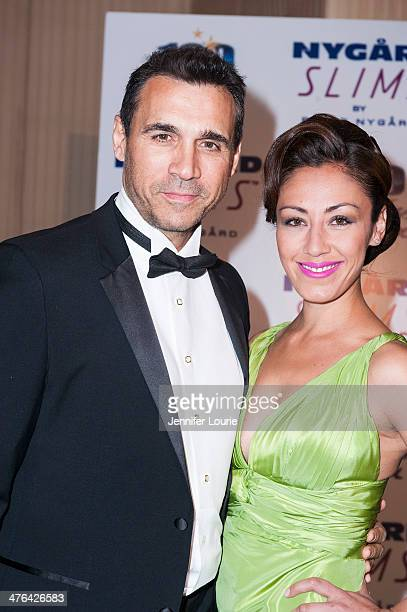 Actor Adrian Paul and actress Meilani Paul attends Norby Walters' 24nd Annual Night of 100 Stars Oscar Viewing Gala at Beverly Hills Hotel on March 2...