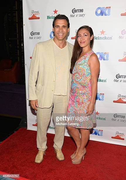 Actor Adrian Paul and Alexandra Paul attend the OK TV Awards Party at Sofitel Hotel on August 21 2014 in Los Angeles California