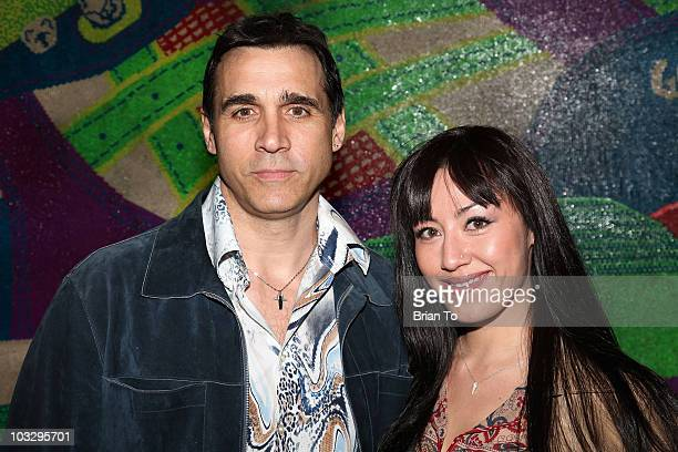 Actor Adrian Paul and Alexandra Tonelli arrive at Paper Magazine's 12th Annual Beautiful People Party at MyHouse on April 15, 2009 in Hollywood,...