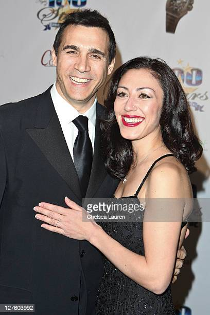 Actor Adrian Paul and Alexandra Tonelli arrive at the 21st Annual Night of 100 Stars Awards Gala at Beverly Hills Hotel on February 27 2011 in...