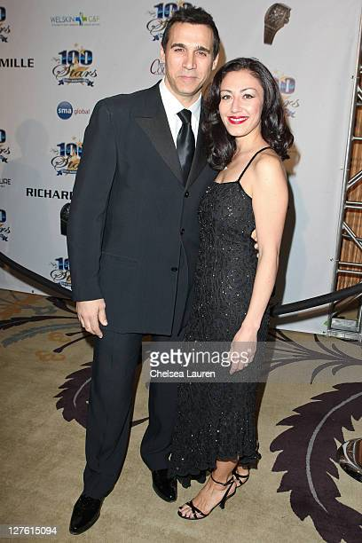 Actor Adrian Paul and Alexandra Tonelli arrive at the 21st Annual Night of 100 Stars Awards Gala at Beverly Hills Hotel on February 27, 2011 in...