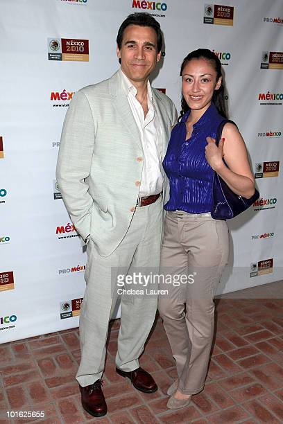 Actor Adrian Paul and Alexandra Tonelli arrive at the Mexican Consul General's reception honoring the motion picture industry on June 3 2010 in Los...
