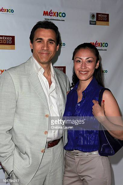 Actor Adrian Paul and Alexandra Tonelli arrive at the Mexican Consul General's reception honoring the motion picture industry on June 3, 2010 in Los...