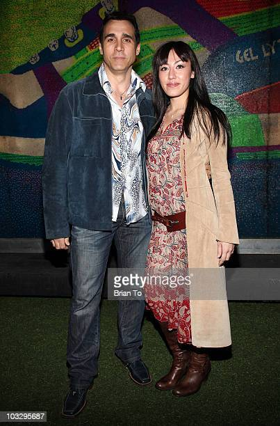 Actor Adrian Paul and Alexandra Tonelli arrives at Paper Magazine's 12th Annual Beautiful People Party at MyHouse on April 15, 2009 in Hollywood,...