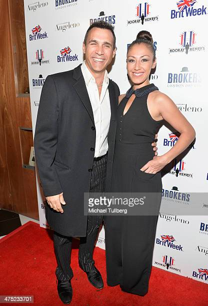 Actor Adrian Paul and Alexandra Tonelli attend the BritWeek Oscar Party at Hooray Henry's on February 26 2014 in West Hollywood California
