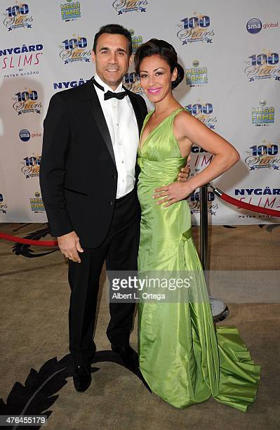 Actor Adrian Paul and wife Alexandra arrives for Norby Walters' 24nd Annual Night Of 100 Stars Oscar Viewing Gala held at Beverly Hills Hotel on...