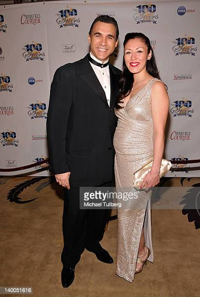 Actor Adrian Paul and wife Meilani arrive at Norby Walters' 22nd Annual Night Of 100 Stars Viewing Gala at the Beverly Hills Hotel on February 26...