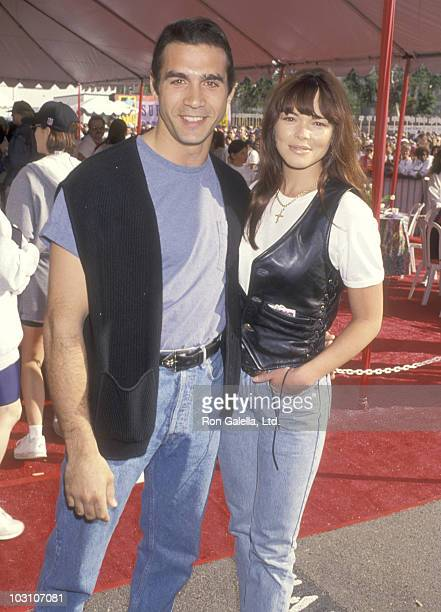 Actor Adrian Paul and wife Meilani Paul attend the First Annual Revlon Run/Walk to Benefit Women's Cancer Research on May 7 1994 at 20th Century Fox...