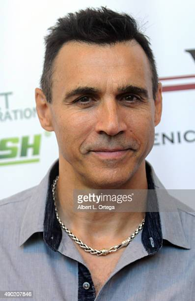 Actor Adrian Paul arrives for The Peace Fund Annual Charity Celebrity Poker Tournament held at The Microsoft Office on September 26 2015 in Playa...