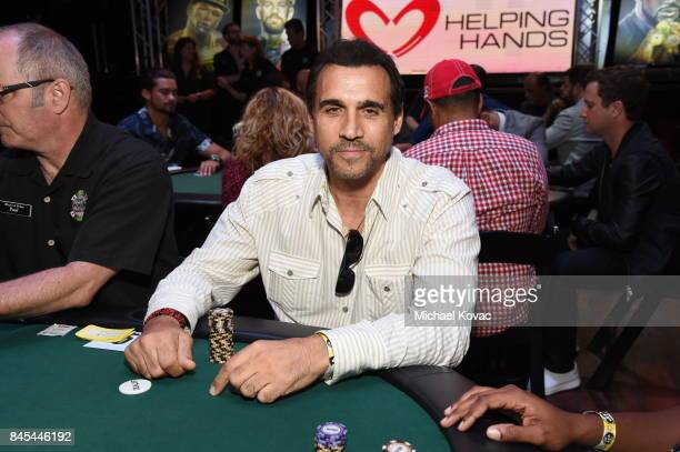 Actor Adrian Paul at the Heroes for Heroes Los Angeles Police Memorial Foundation Celebrity Poker Tournament at Avalon on September 10 2017 in...