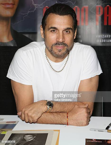 Actor Adrian Paul attends Wizard World Las Vegas at the Las Vegas Convention Center on March 19 2016 in Las Vegas Nevada