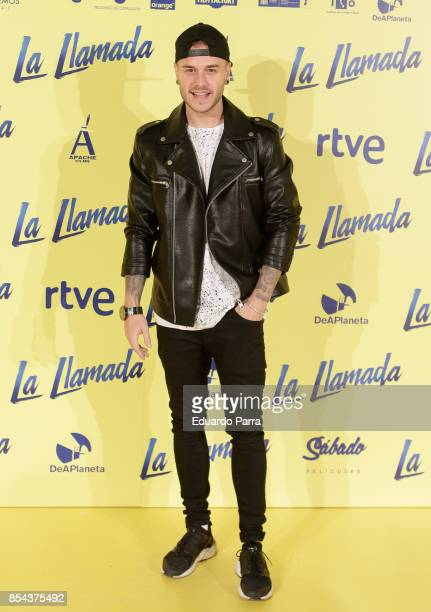 Actor Adrian Rodriguez attends the 'La Llamada' premiere at Capitol cinema on September 26 2017 in Madrid Spain