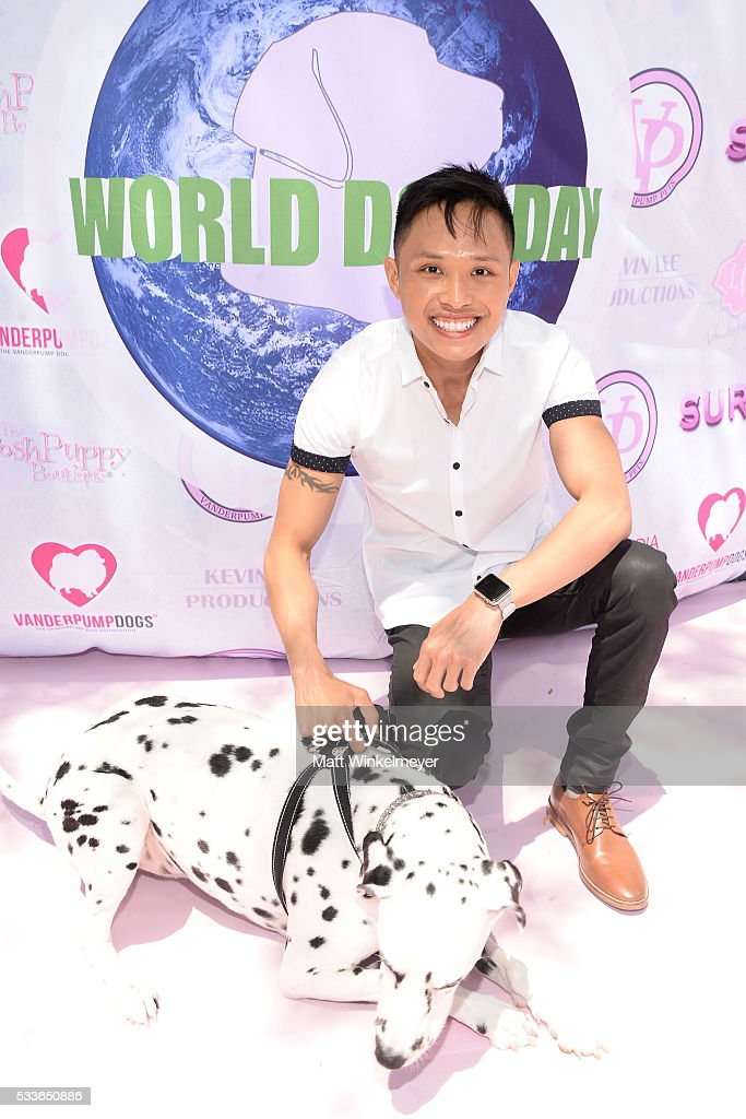 Actor Adrian Voo attends the World Dog Day Celebration at The City of West Hollywood Park on May 22, 2016 in West Hollywood, California.