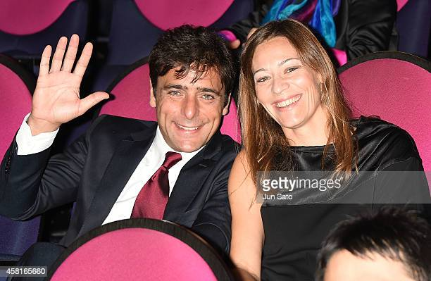 Actor Adriano Giannini and his guest attend the closing ceremony of the 27th Tokyo International Film Festival at Roppongi Hills on October 31 2014...