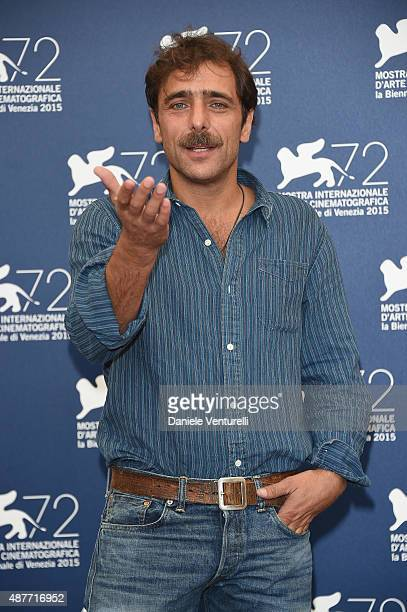 Actor Adriano Giannini attends a photocall for 'Per Amor Vostro' during the 72nd Venice Film Festival at Palazzo del Casino on September 11 2015 in...