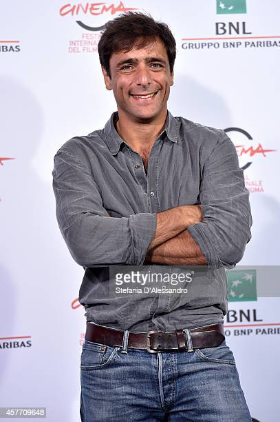 Actor Adriano Giannini attends the 'La Foresta Di Ghiaccio' Photocall during the 9th Rome Film Festival on October 23 2014 in Rome Italy