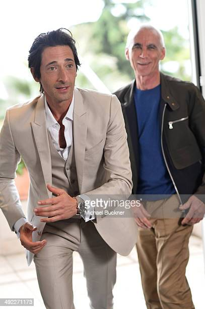 Actor Adrien Brody and director Lee Tamahori attend a photocall to announce the new film 'Emperor' during the 67th Annual Cannes Film Festival on May...
