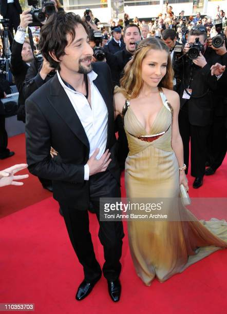 Actor Adrien Brody and Elsa Pataky attend the Indiana Jones and the Kingdom of the Crystal Skull premiere at the Palais des Festivals during the 61st...