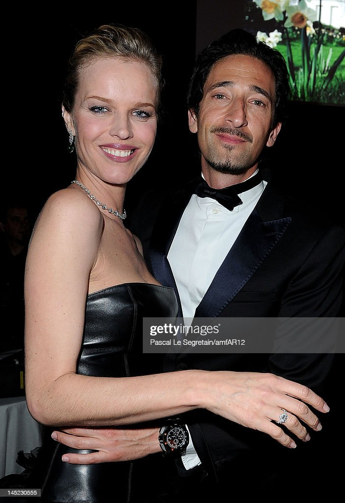 Actor Adrien Brody and Eva Herzigova appear during the 2012 amfAR's Cinema Against AIDS during the 65th Annual Cannes Film Festival at Hotel Du Cap on May 24, 2012 in Cap D'Antibes, France.