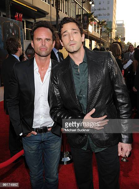 Actor Adrien Brody and guest arrive at the world wide premiere of 'Iron Man 2' Premiere held at the El Capitan Theatre on April 26 2010 in Hollywood...