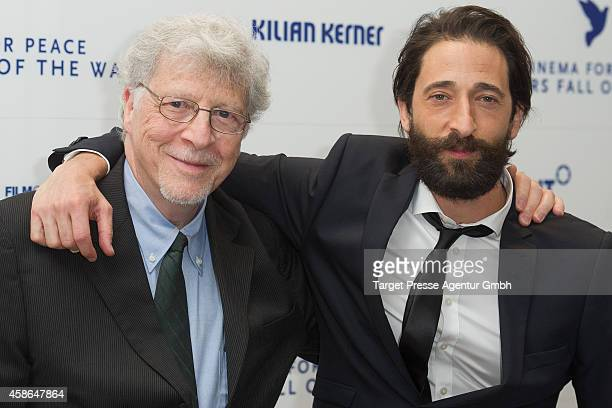 Actor Adrien Brody and his father Elliot Brody attend the HEROES Gala Berlin at Hotel Adlon on November 8 2014 in Berlin Germany