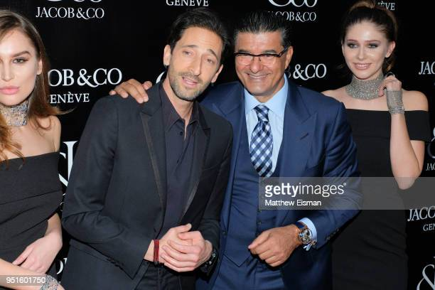 Actor Adrien Brody and Jacob Arabo AKA Jacob The Jeweler attends the Jacob Co New York City Flagship Grand Reopening on April 26 2018 in New York City