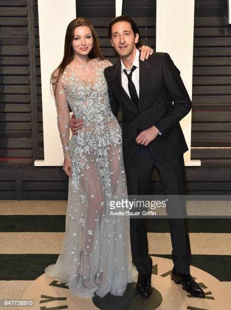 Actor Adrien Brody and Lara Lieto arrive at the 2017 Vanity Fair Oscar Party Hosted By Graydon Carter at Wallis Annenberg Center for the Performing...