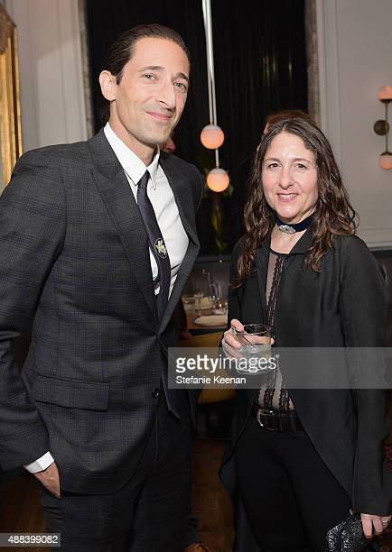 Actor Adrien Brody and screenwriter Hanna Weg attend the Septembers of Shiraz TIFF Party Hosted By GREY GOOSE Vodka at Byblos on September 15 2015 in...
